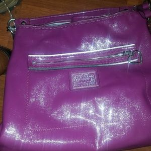 Patent leather pink Coach purse